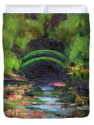 Momet's Water Lily Garden Toward Evening Duvet Cover