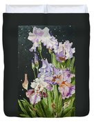 Mom's Night Iris Duvet Cover