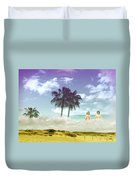 Mom's Tropical Dreams Duvet Cover