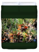 Monarch Butterfly Gathering Duvet Cover