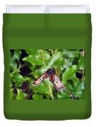 Monarch Butterfly In Flight Duvet Cover