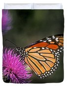 Monarch On Thistle 13f Duvet Cover