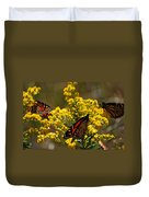 Monarchs On Yellow Duvet Cover