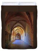 Monastery Passageway Duvet Cover
