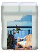 Mondello Bay Sicily Duvet Cover