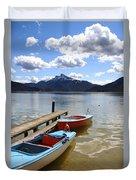 Mondsee Lake Boats Duvet Cover