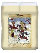 Mongol Battle, C1400 Duvet Cover