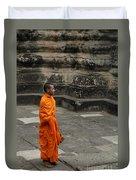 Monk At Ankor Wat Duvet Cover
