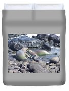 Monk Seals Duvet Cover