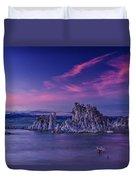Mono Lake's Fiery Sky Duvet Cover
