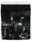 Monochrome City Duvet Cover