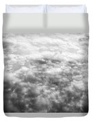 Monochrome Clouds Duvet Cover