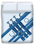 Monochrome Trumpet Duvet Cover