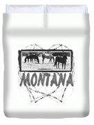 Montana Horse Design Duvet Cover