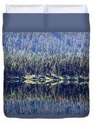 Montana Lake Reflection Duvet Cover