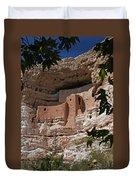 Montezuma Castle Cliff Dwellings In The Verde Valley Of Arizona Duvet Cover