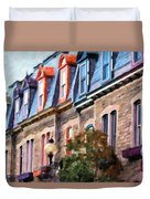 Montreal Architecture Duvet Cover
