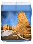 Monument Rocks In Kansas Duvet Cover