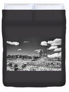 Monument Valley In Monochrome  Duvet Cover