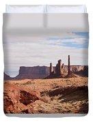 Monument Valley Totem Pole Duvet Cover