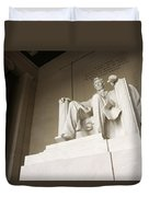 Monumental Statue Of Abraham Lincoln Duvet Cover