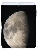 Moon Against The Black Sky Duvet Cover