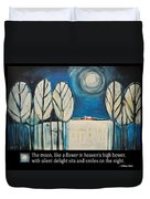 Moon Quote Poster Duvet Cover