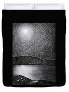 Moon Reflection On The Sea Duvet Cover