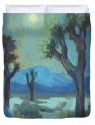 Moon Shadows At Joshua Duvet Cover