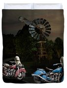 Moonlight Indian Chief Duvet Cover