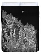 Moonlit Cliffs Duvet Cover
