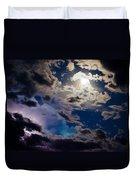 Moonlit Clouds With A Splash Of Lightning Duvet Cover