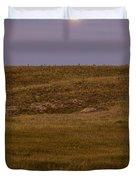Moonrise Over Badlands South Dakota Duvet Cover