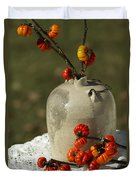 Moonshine Jug And Pumpkin On A Stick Duvet Cover