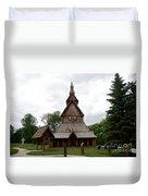 Moorhead Stave Church 1 Duvet Cover