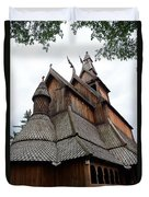 Moorhead Stave Church 8 Duvet Cover