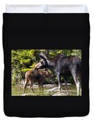 Moose Brunch Duvet Cover