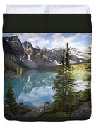 Moraine Lake In The Valley Of The Ten Duvet Cover