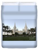 Mormon Cathederal San Diego Duvet Cover