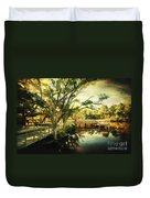Morning At The Harbor Park Duvet Cover