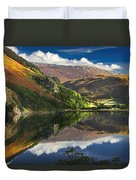 morning by Llyn Gwynant Duvet Cover