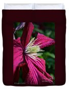 Morning Clematis Duvet Cover
