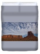 Morning Clouds Over Monument Valley Duvet Cover