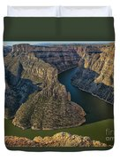 Morning In Bighorn Canyon Duvet Cover