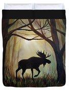 Morning Meandering Moose Duvet Cover