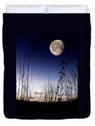 Morning Moonscape Duvet Cover