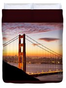 Morning Over San Francisco Duvet Cover