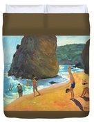 Morning Platja Dos Rosais Costa Brava Duvet Cover