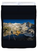 Morning Sun On Angel Lake Duvet Cover