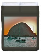 Morro Bay Rock Duvet Cover